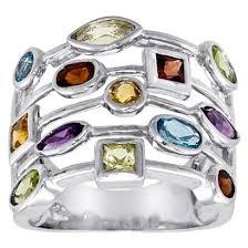 silver gem ring